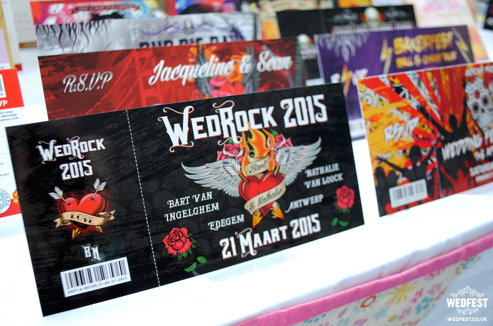 rock n roll wedding invites from wedfest