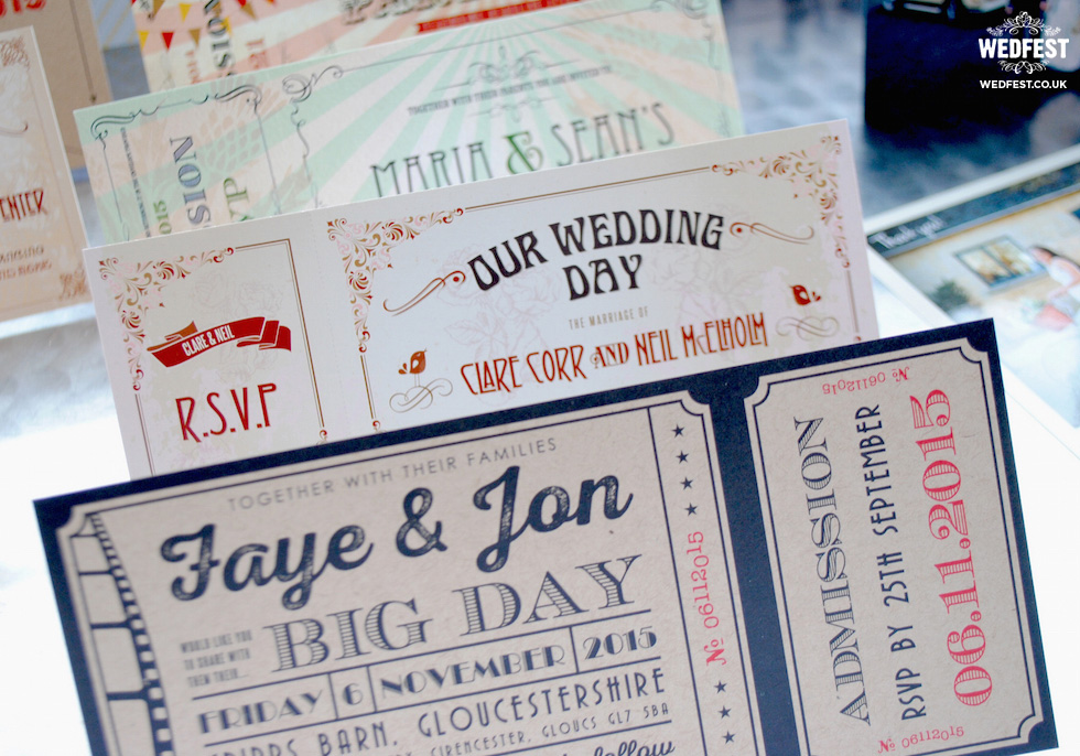 vintage ticket wedding invitations from wedfest