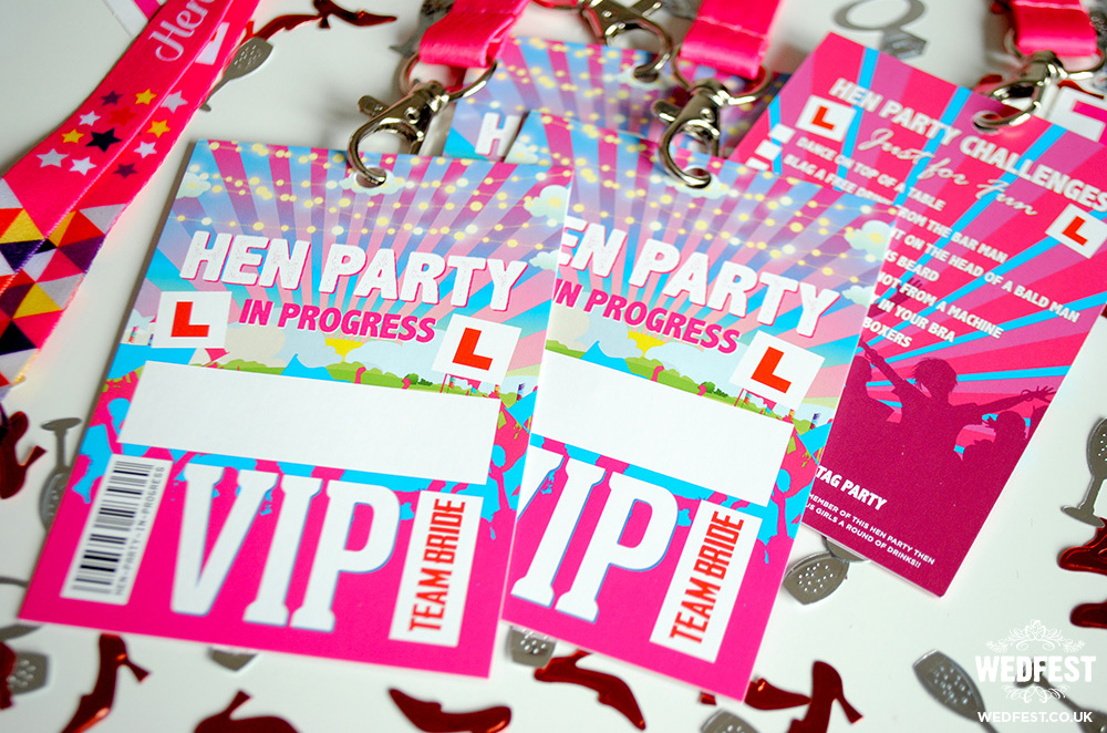 VIP Hen Party Lanyards