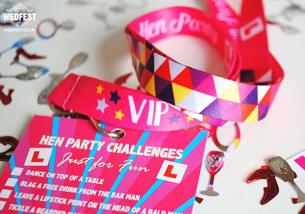 vip hen weekend challenge lanyards