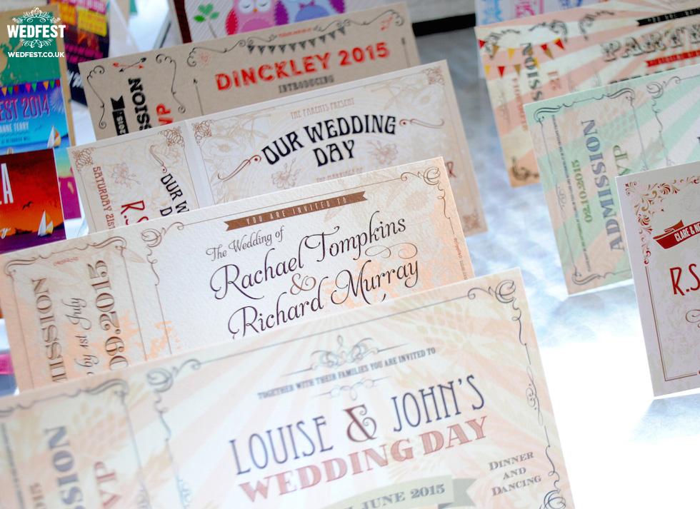 wedfest vintage ticket wedding invites