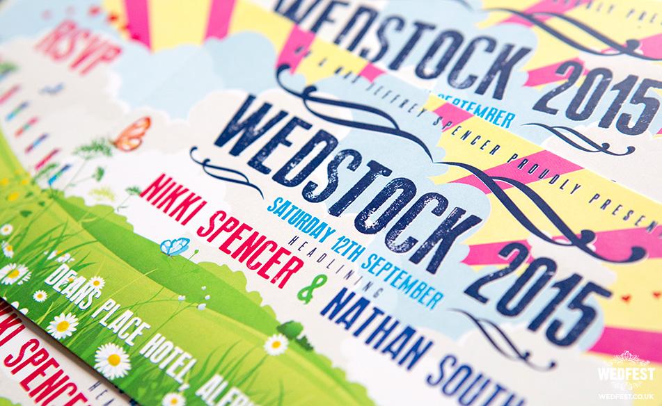 wedstock wedding invitation