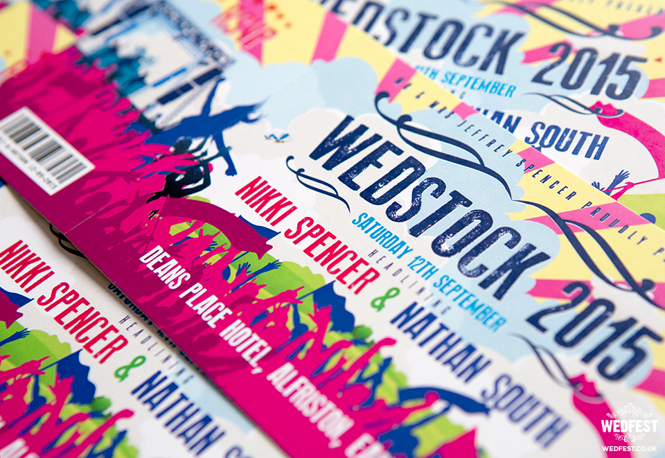wedstock wedding invite