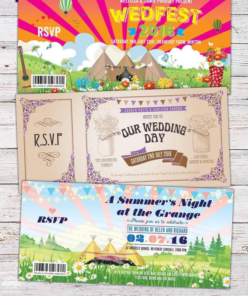 wedfest festival wedding invitations from wedfest festivals weddings festivalwedding festivalbridehellip