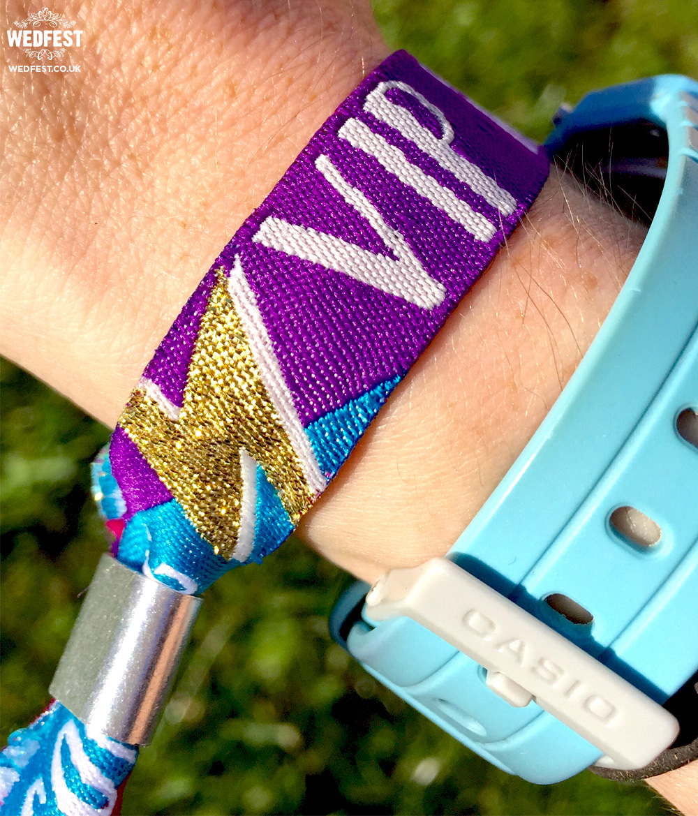 festival wedding vip wristbands
