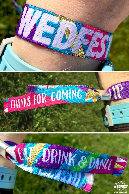 generic festival wedding wristbands