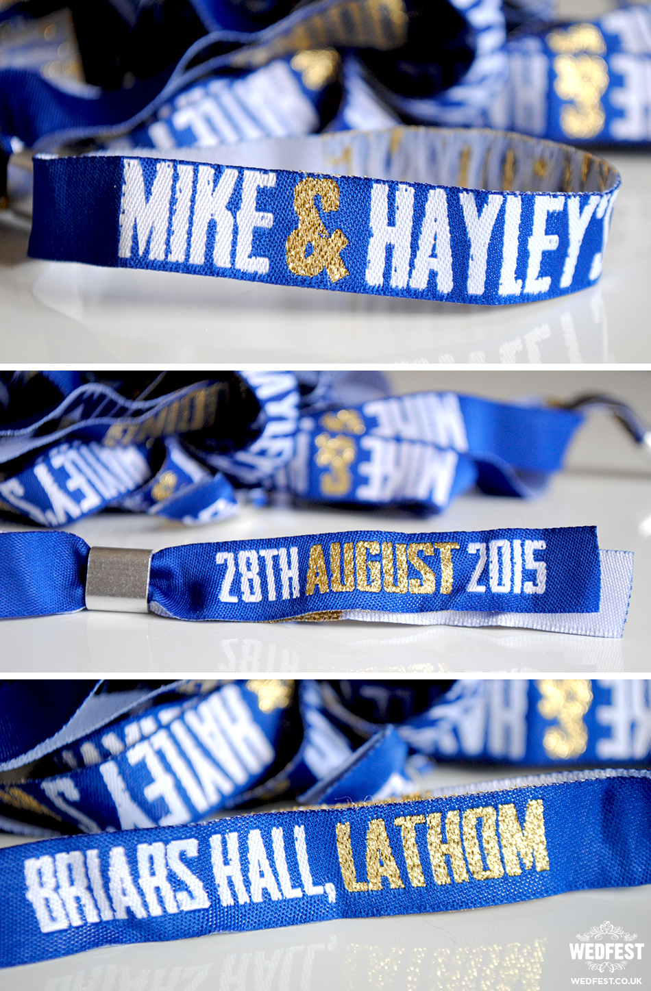 personalised concert wristband wedding favours