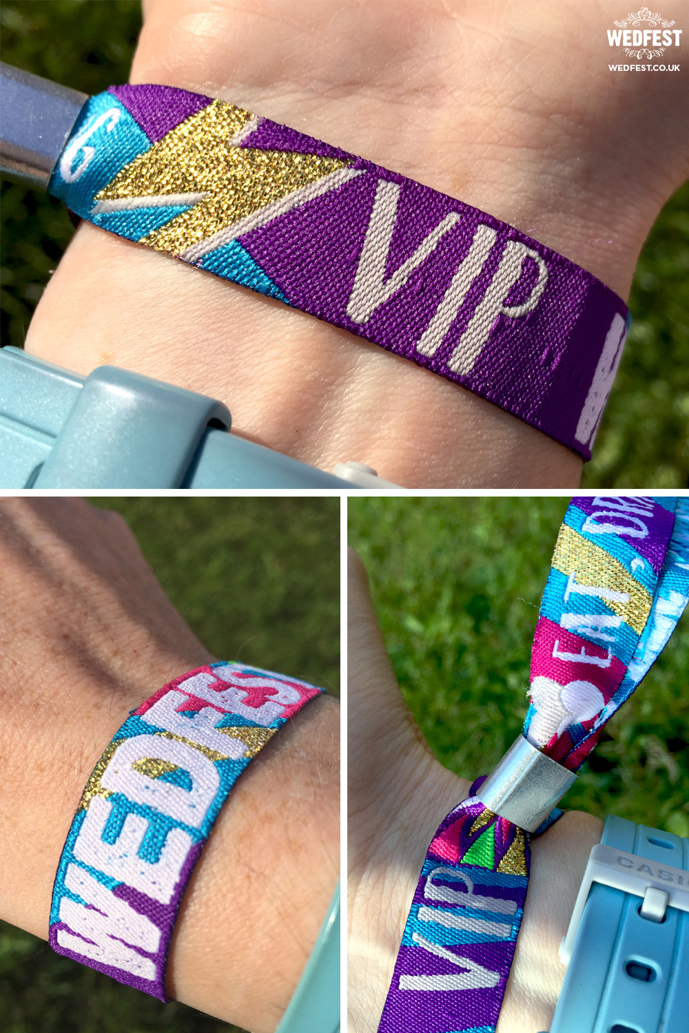 wedstock wedding wristbands