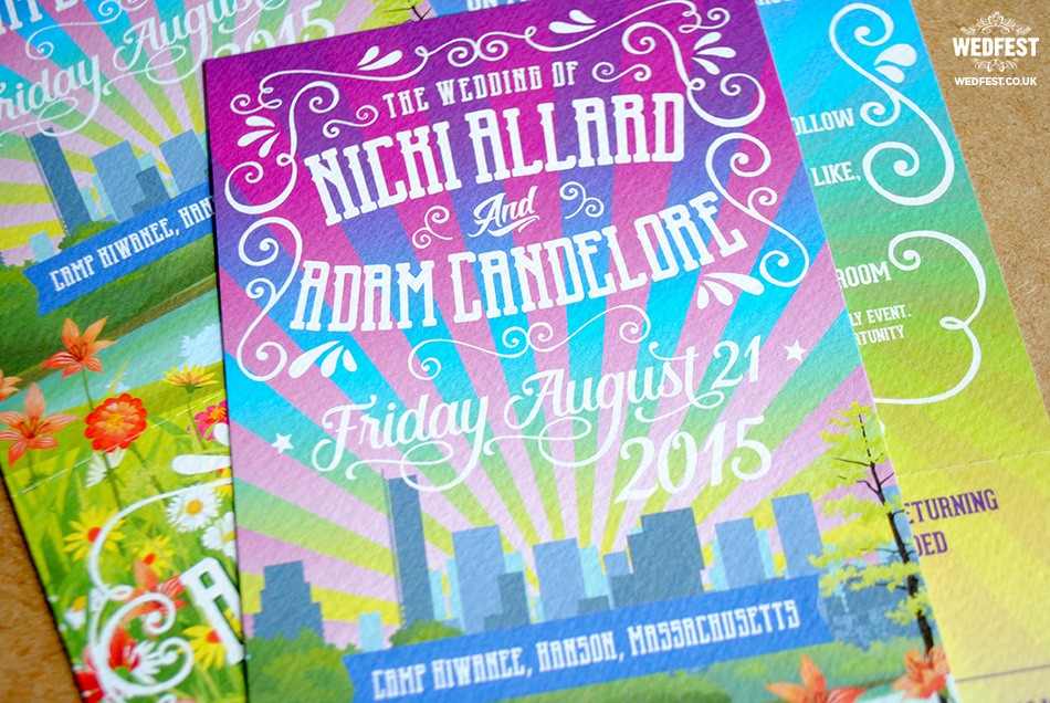 boston skyline wedding invite
