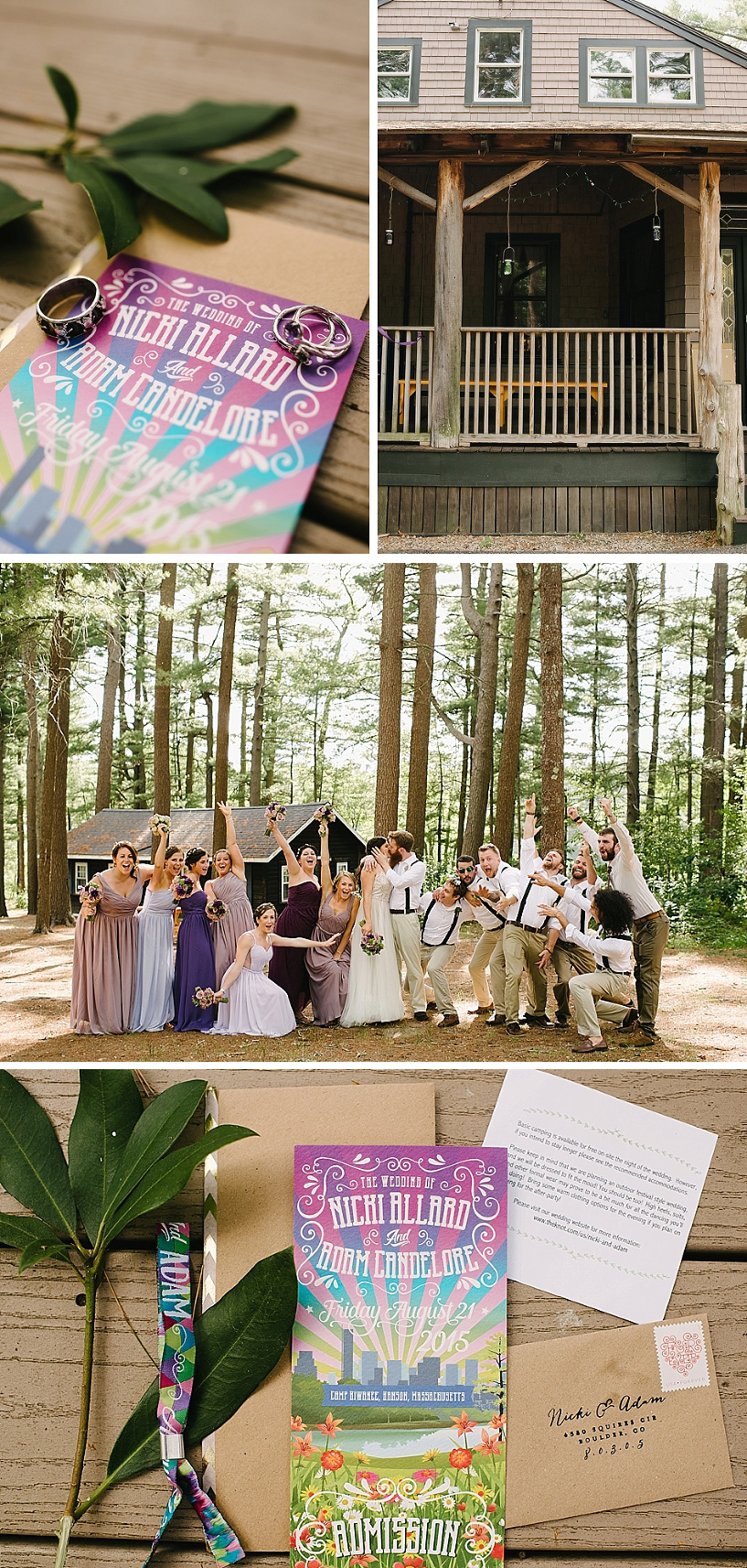 camp kiwanee music festival wedding