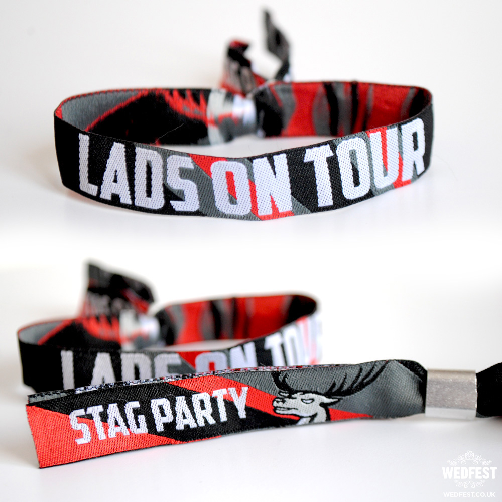 lads on tour stag do wristbands