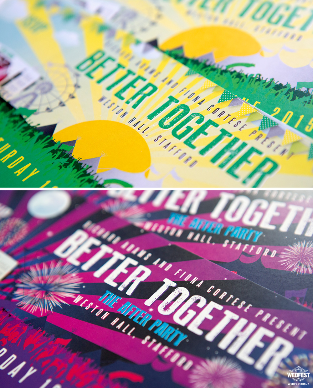 wedfest better together wedding invites