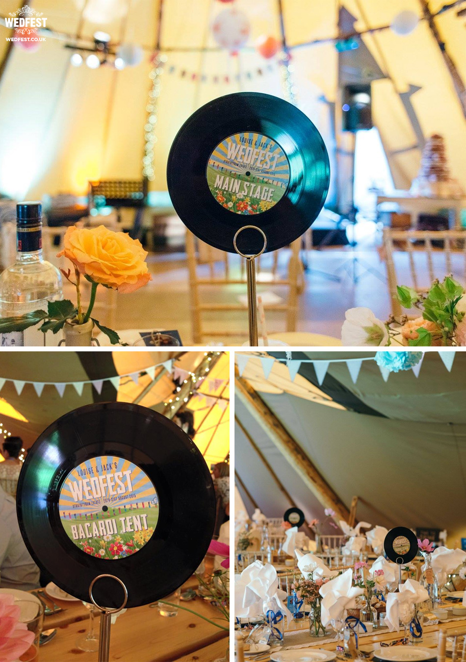 wedfest vinyl record table names