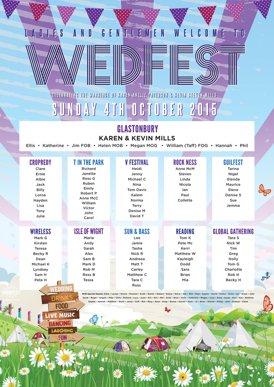Wedfest Wedding Seating Chart