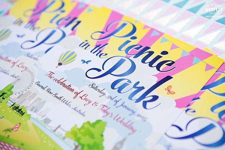 London picnicinthepark weddinginvites from wedfestco wedfest picnic weddinginvitation weddinginvitations festivalbridehellip