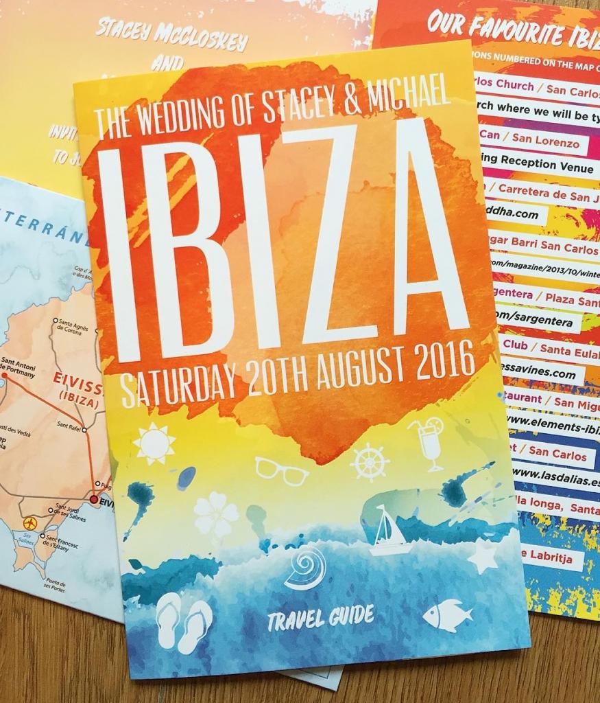 ibiza holiday brochure weddinginvites from wedfestco wedfest destinationwedding traveltheme ibiza2016hellip