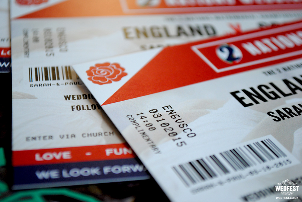 england rugby wedding invites