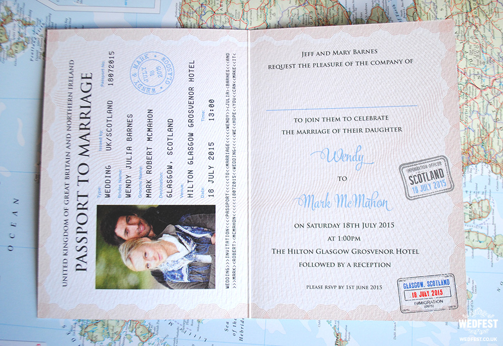 Passport Wedding Invites | WEDFEST