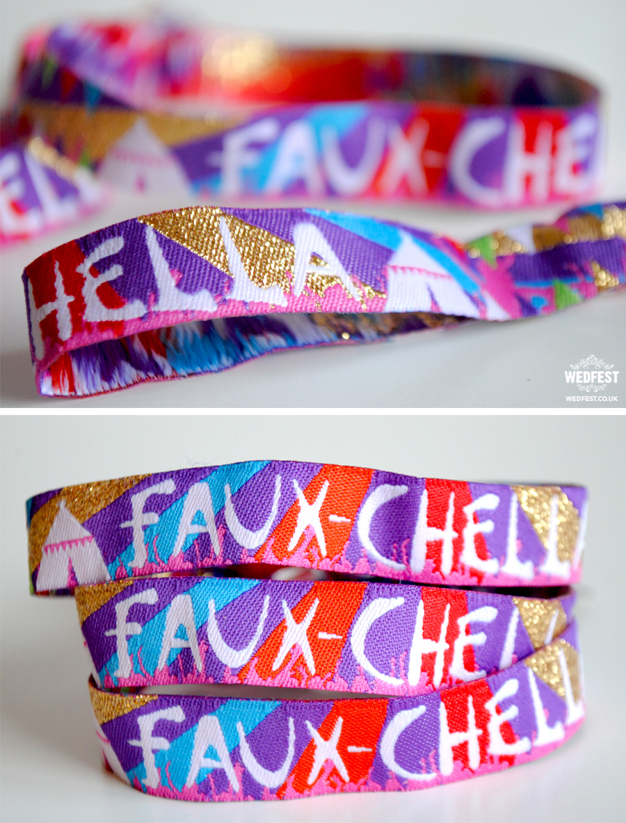 custom fabric festival party wristbands