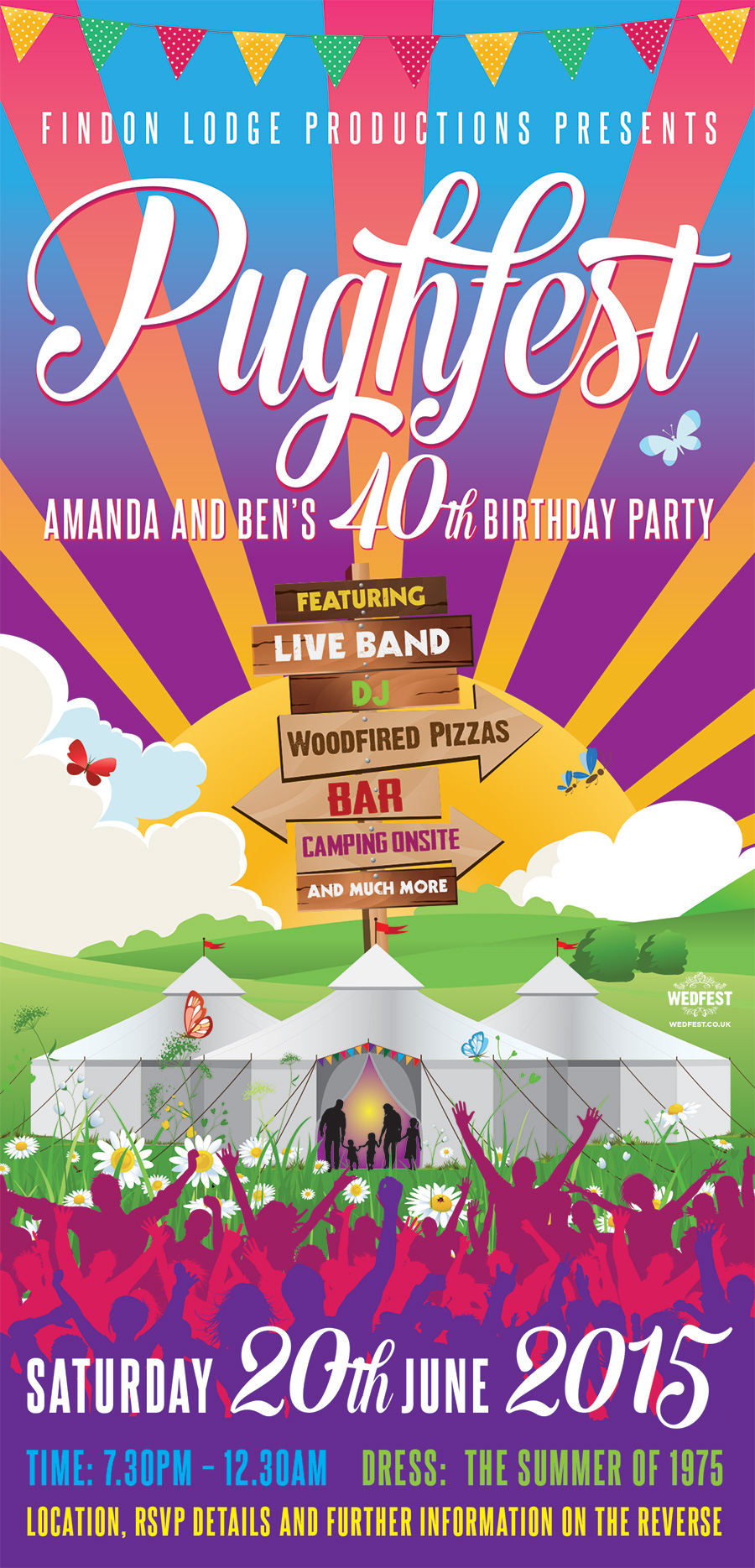 Festival Birthday Party Invite