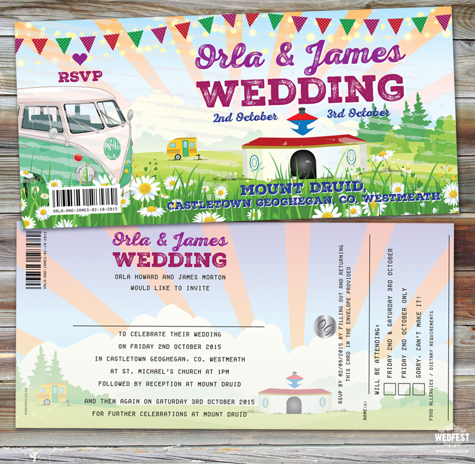 Mount Druid Festival Wedding Ireland Invitations