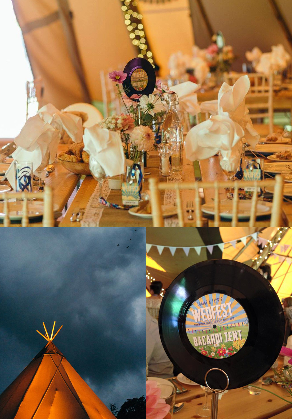 festival wedding table numbers