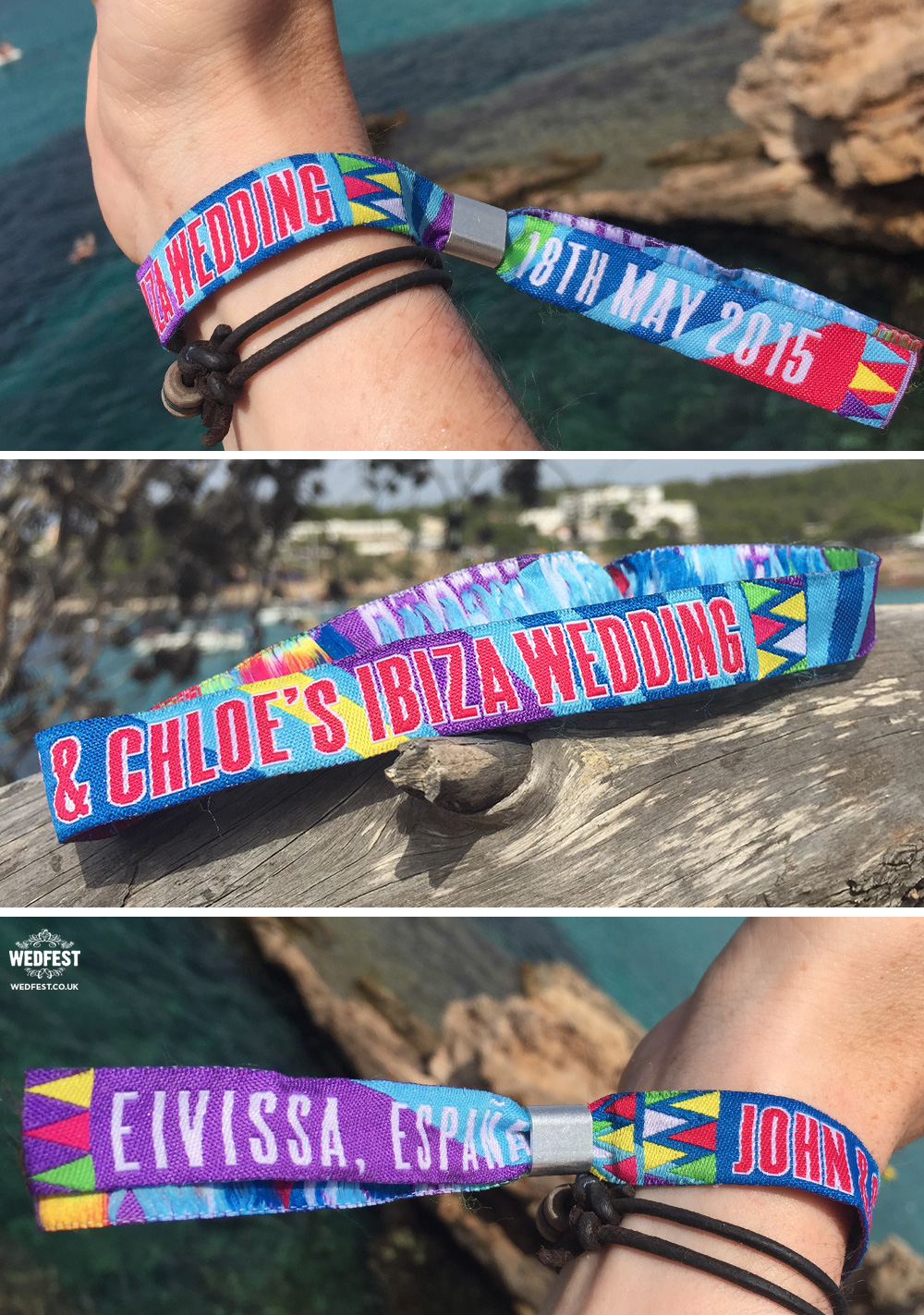 Ibiza Wedding Wristbands
