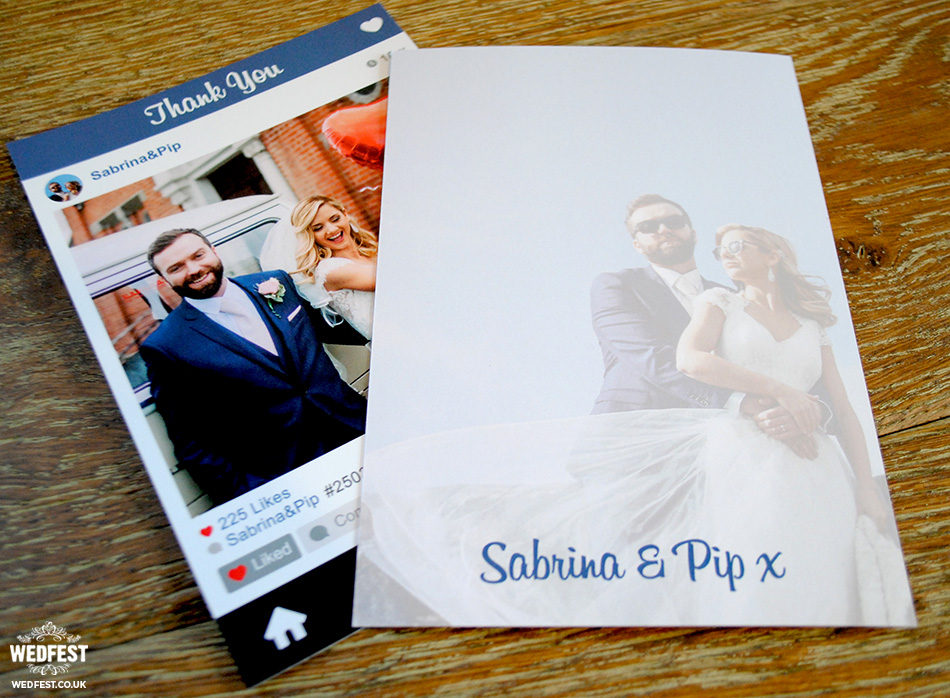 Instagram Style Wedding Thank You Cards | WEDFEST