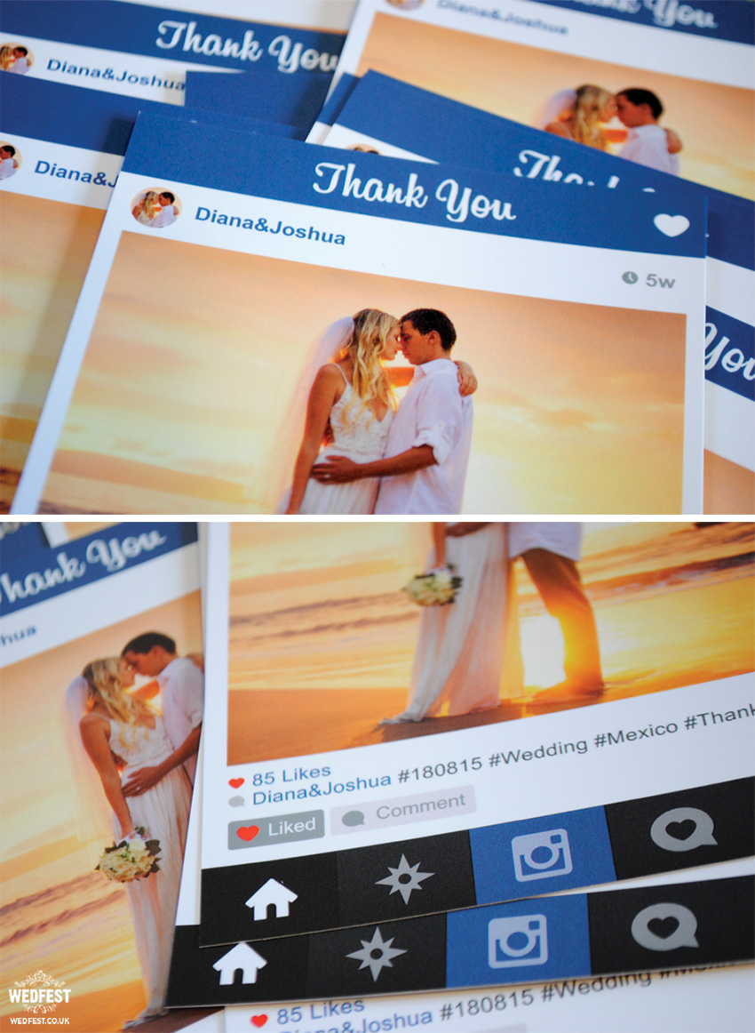 instagram style thank you cards