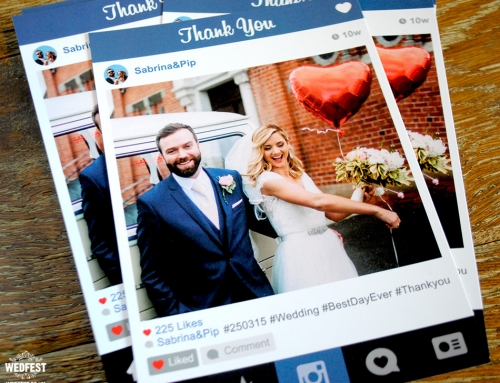 Instagram Style Wedding Thank You Cards