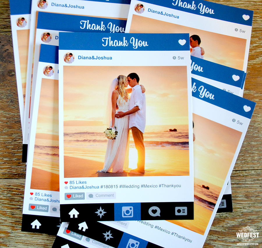 Instagram Style Wedding Thank You Cards WEDFEST