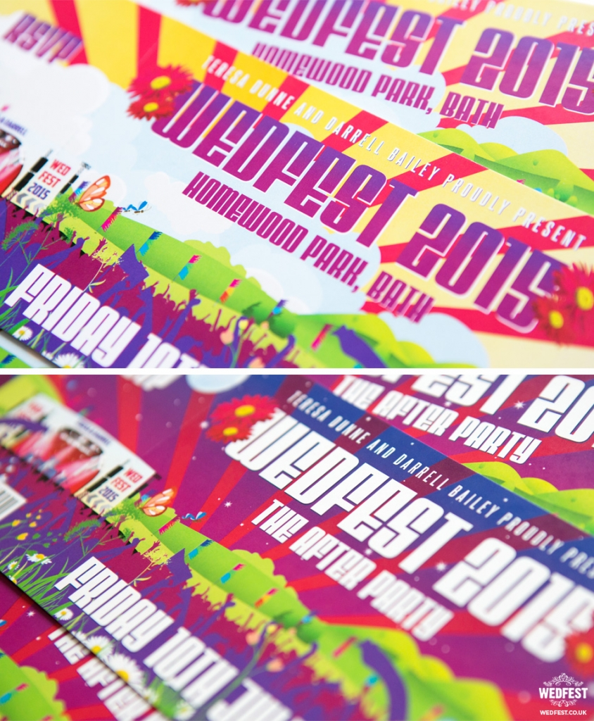 Concert ticket invitations