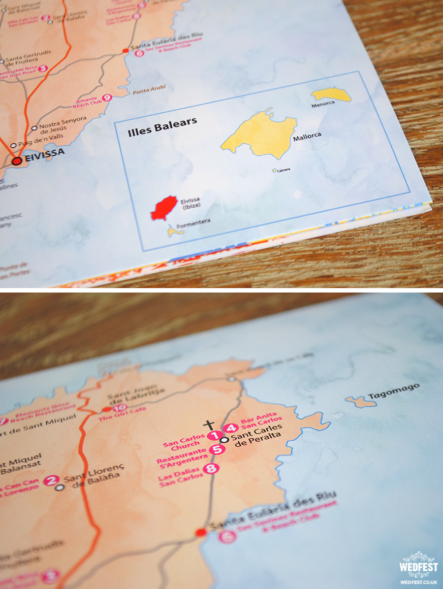 ibiza map wedding invite