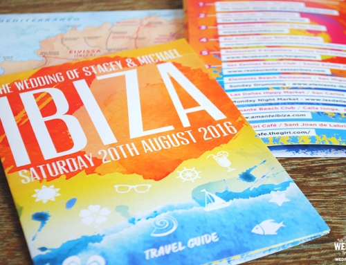 Ibiza Travel Brochure Wedding Invitation
