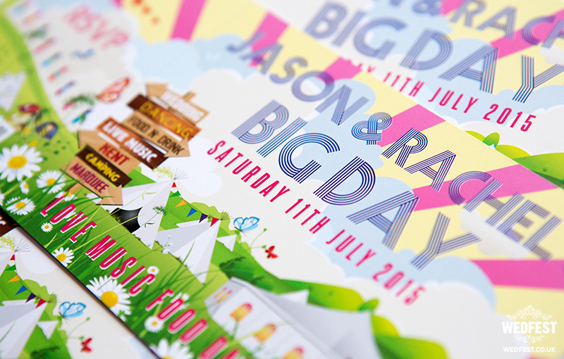 our big day festival wedding stationery