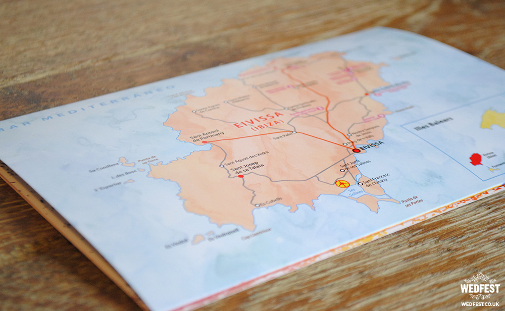 travel destination wedding invite map