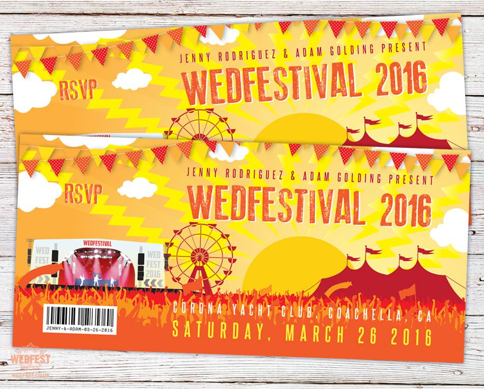 Coachella Wedding Invitation