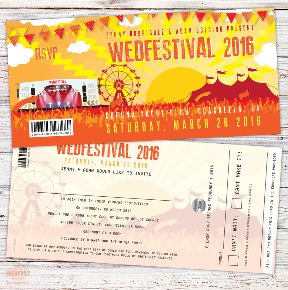 WEDFEST | Festival Wedding Stationery | Wedding Invitations - Part 5