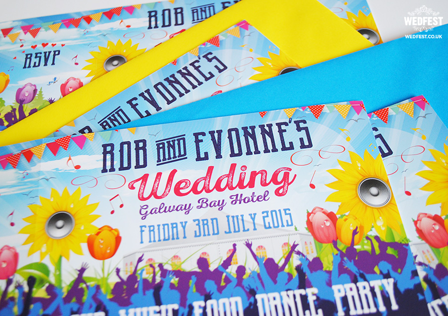 rob evonnes festival wedding galway ireland