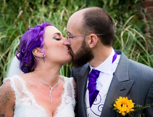 Amy & Mark's Purple Rock n' Roll Wedding