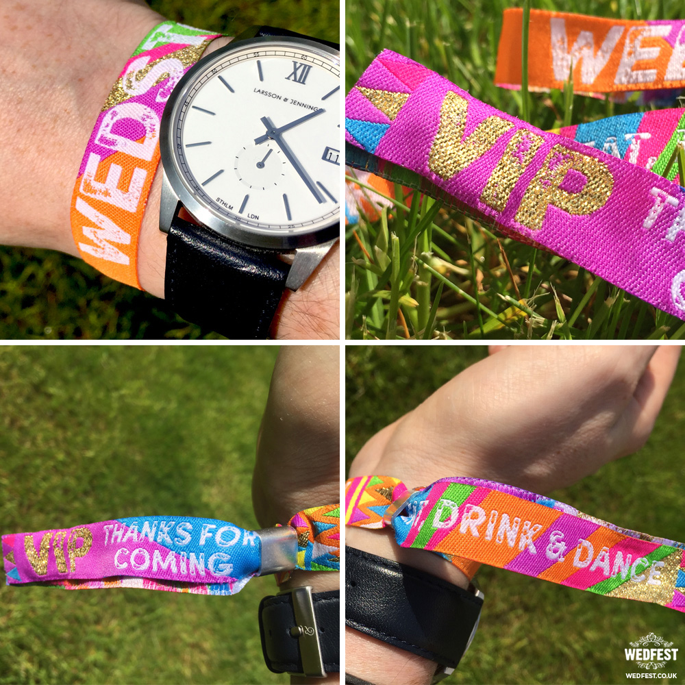 wedstock wristband wedding favor