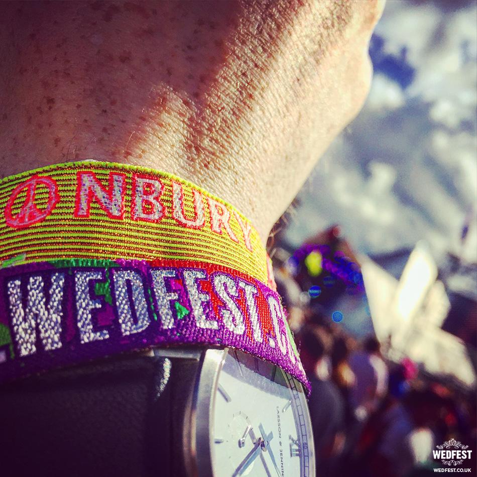 glastonbury wedfest festival wristbands