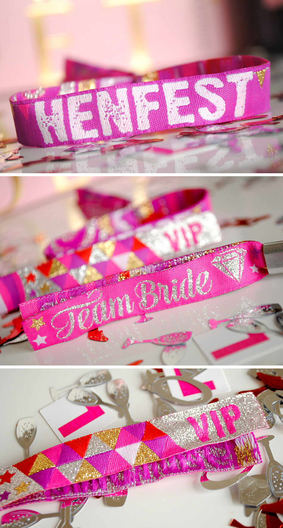 henfest team bride hen party wristbands