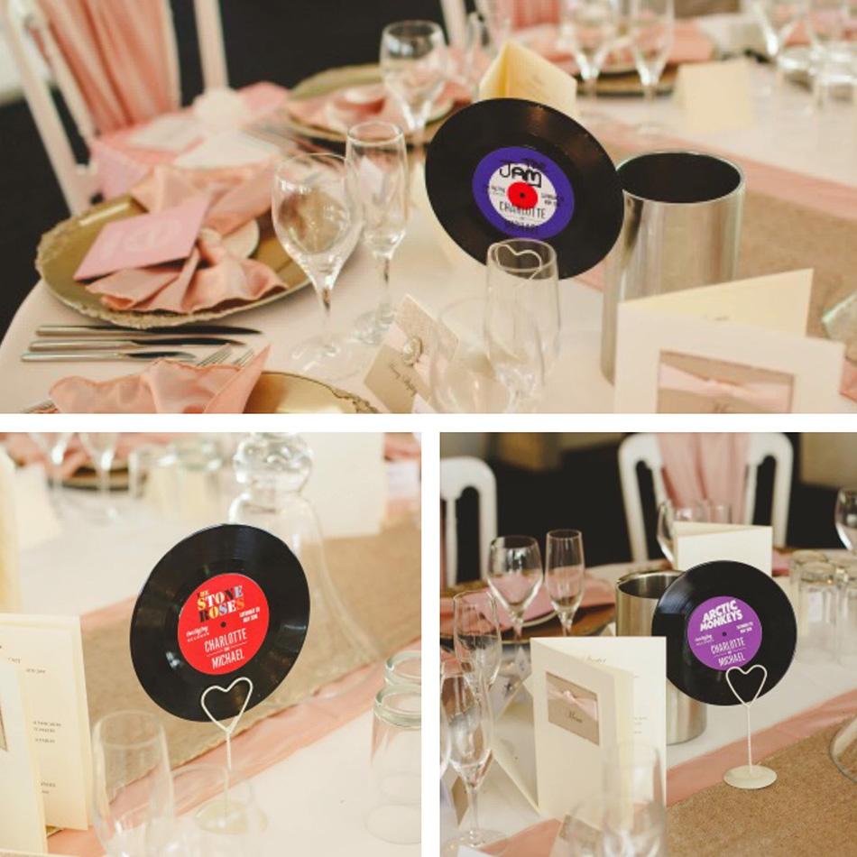music wedding centre pieces