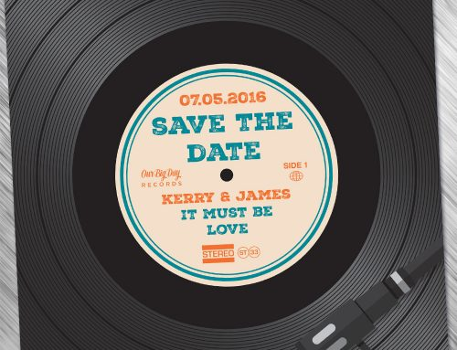 Vinyl Record Wedding Invites / Save The Dates