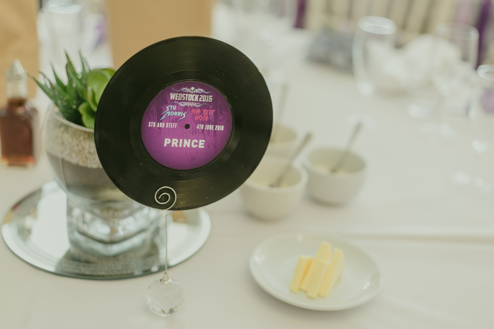 vinyl record wedding table name