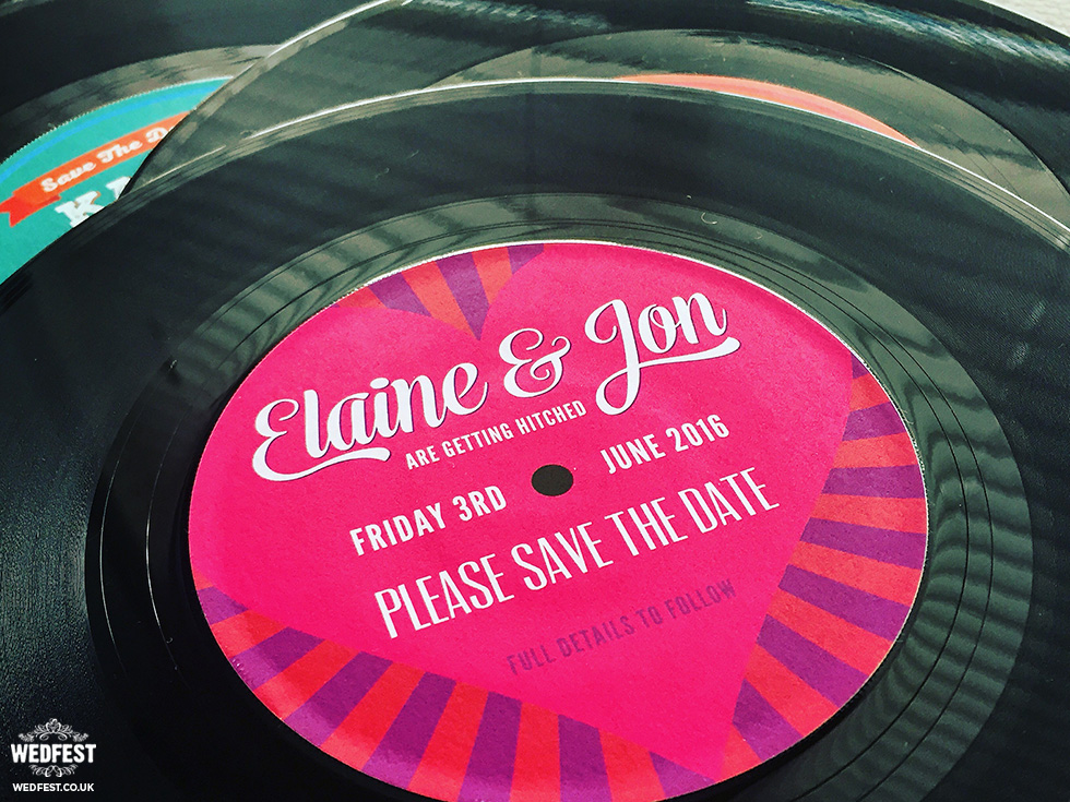 Vinyl Record Wedding Invites Save The Dates WEDFEST
