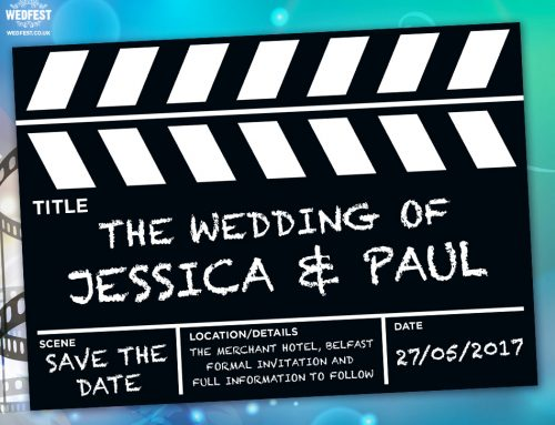 Movie Clapperboard Wedding Save The Date Cards