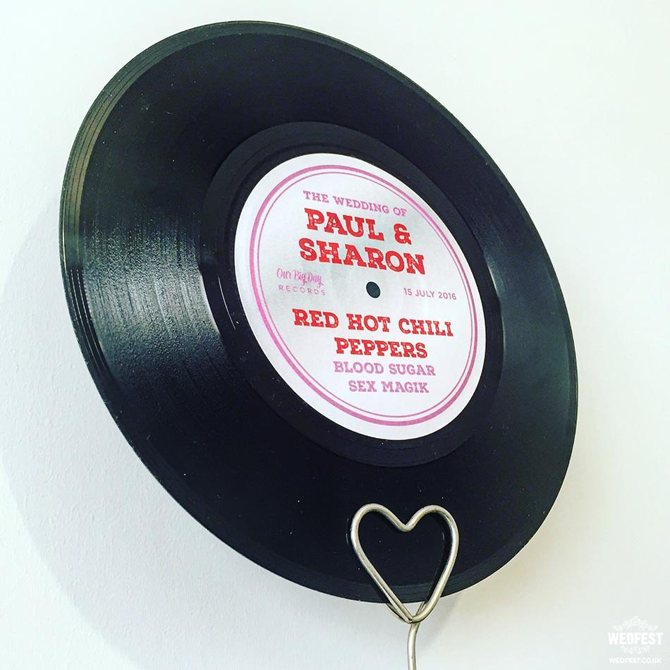 7 inch wedding vinyl records