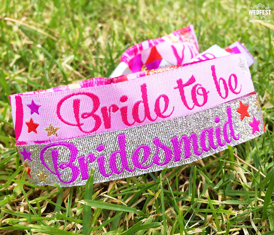 bridesmaid hen do wristband